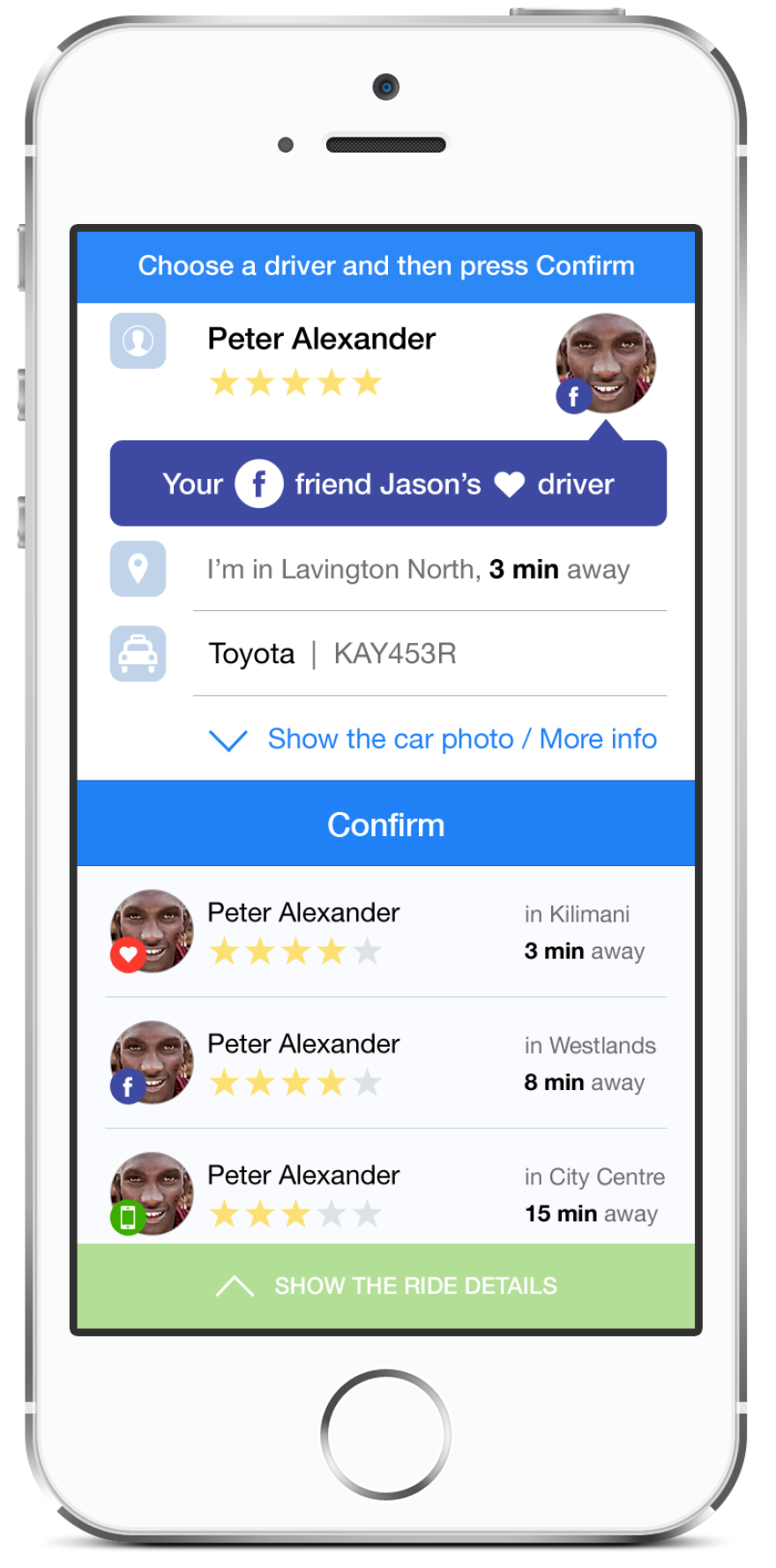 The Maramoja app assigns taxi drivers a trust score, by scouring your contacts and social media.
