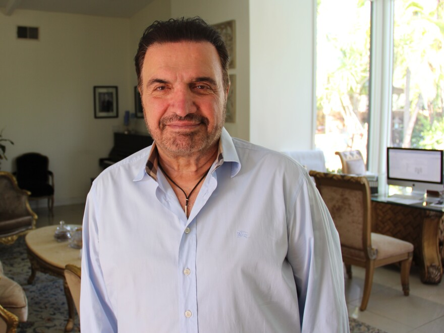 Besharati, at his home in California's San Fernando Valley.