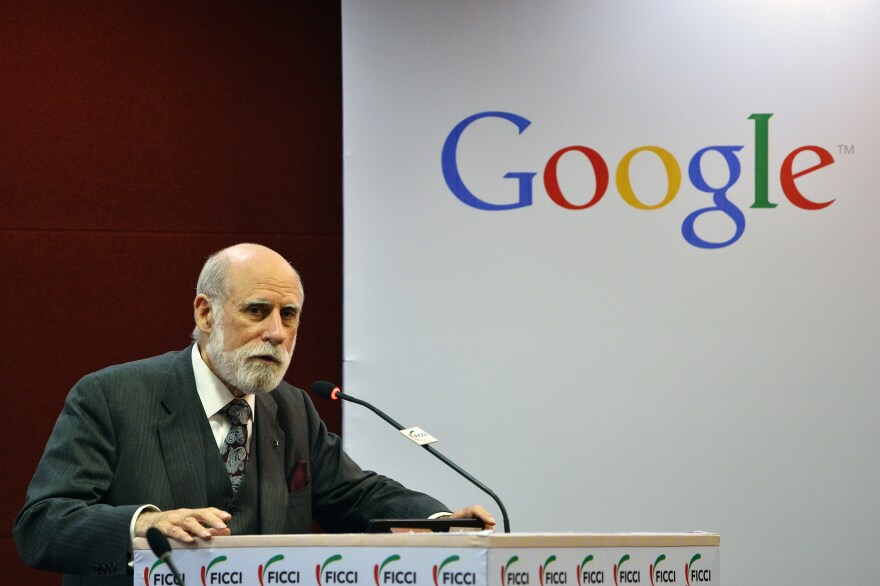 """Vint Cerf, now a Google vice president, is often called the """"father of the Internet."""" He admits that when he and his team created the Internet, he never imagined how it would turn out."""