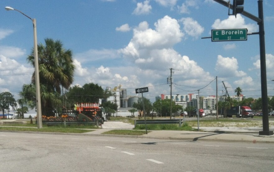 This is the proposed site, looking north from the Amalie Arena