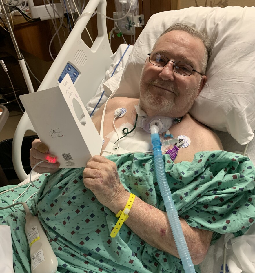 Joe Barton, pictured here in early March, was a resident at Greenwood Healthcare Center while he recuperated from open heart surgery. He died in early June of factors including complications from COVID-19.