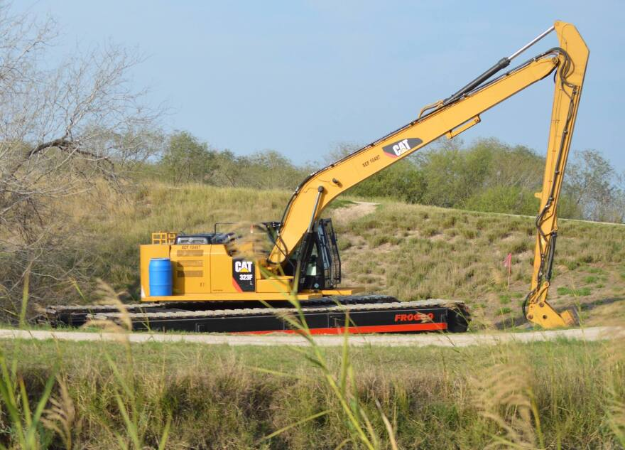 An excavator west of Bentsen-Rio Grande Valley State Park, next-door neighbor to the National Butterfly Center in Mission, Texas