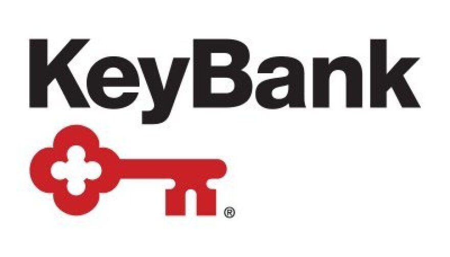 KeyBank logo, image of a red key