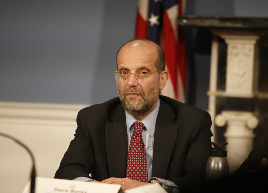 New York City Department of Social Services Commissioner Steven Banks says the city is moving about 1,000 people each week from homeless shelters to hotels where they are at a lower risk of contracting COVID-19.