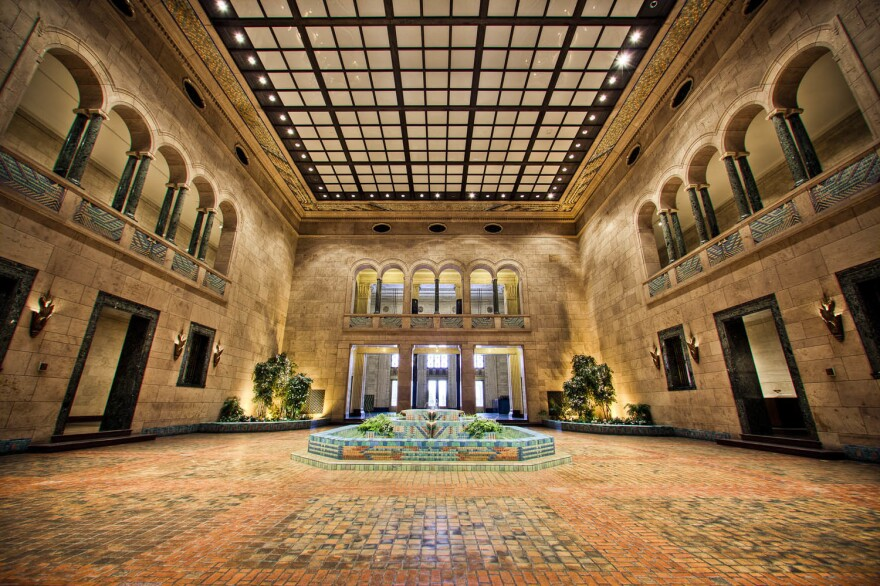 Storz Fountain Court at the Joslyn Art Museum in Omaha, Neb.