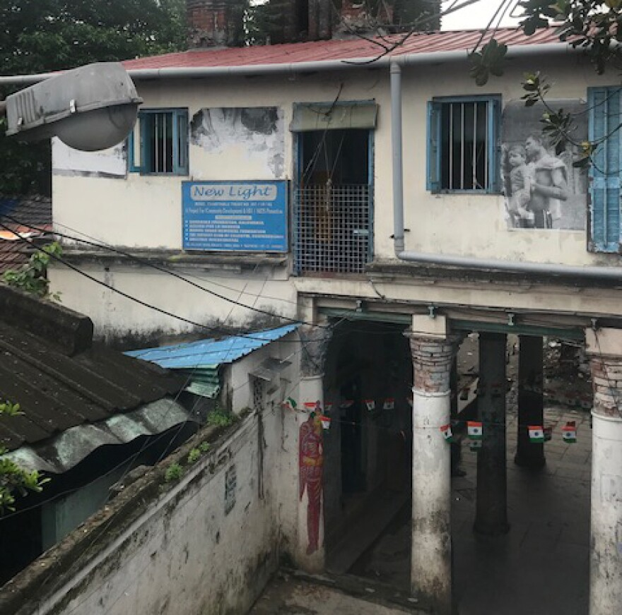 The New Light shelter is on the second floor of this building in Kolkata.