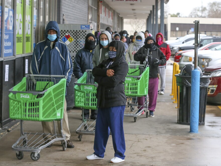 Texas officials are reporting businesses are hiking up prices for food, water, and hotel rooms following a winter storm that walloped Texas this week. This is as residents wait in long lines at grocery stores and face food and water shortages.