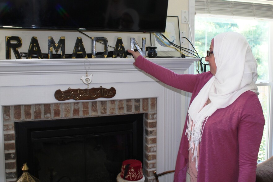 Laila Yossef shows off one of the Ramadan decorations she puts up annually around her Wildwood home.