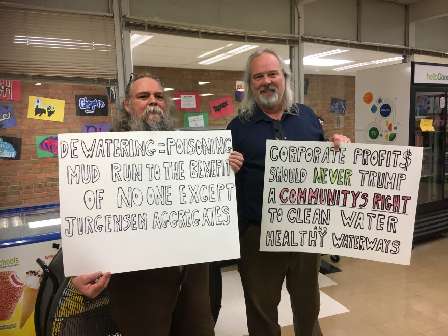 Many Clark County residents at the hearing were worried about the impact Enon Sand and Gravel's proposal could have on the environment.