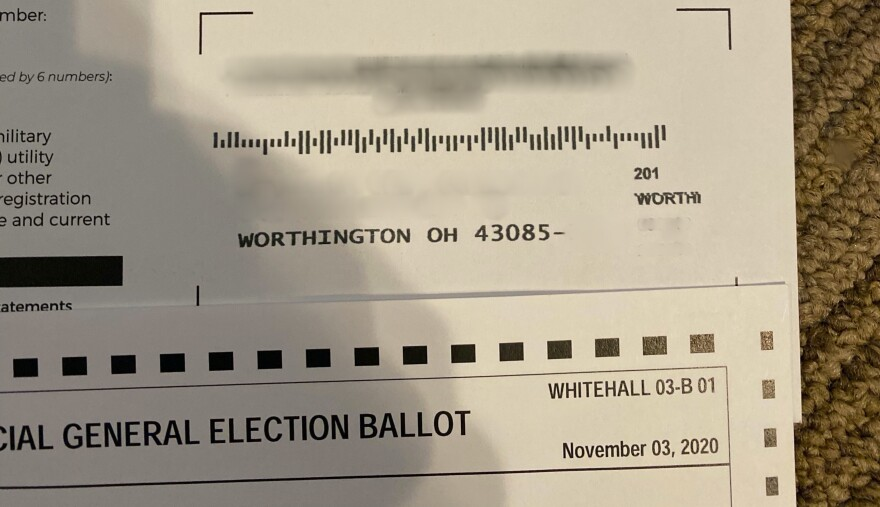 Franklin County ballot with races specific to Whitehall sent to Worthington voter