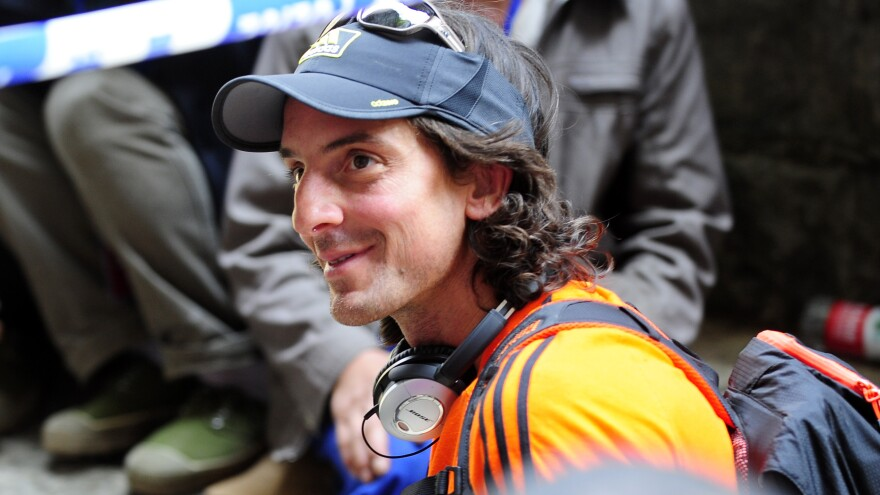 Dean Potter, seen here in 2012, died this weekend along with Graham Hunt while they were attempting a wingsuit flight in Yosemite National Park in California.