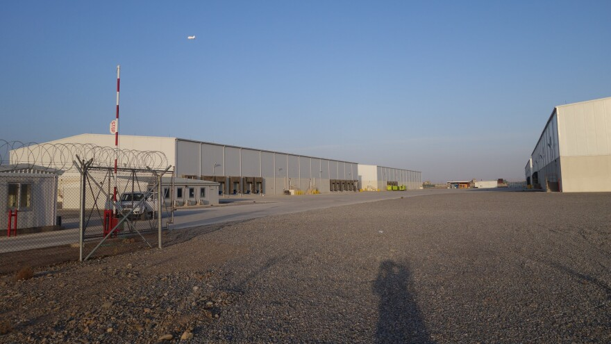 A complex of warehouses at Kandahar Airfield provided the U.S. military with 173,428 square feet of floor space that it did not need.