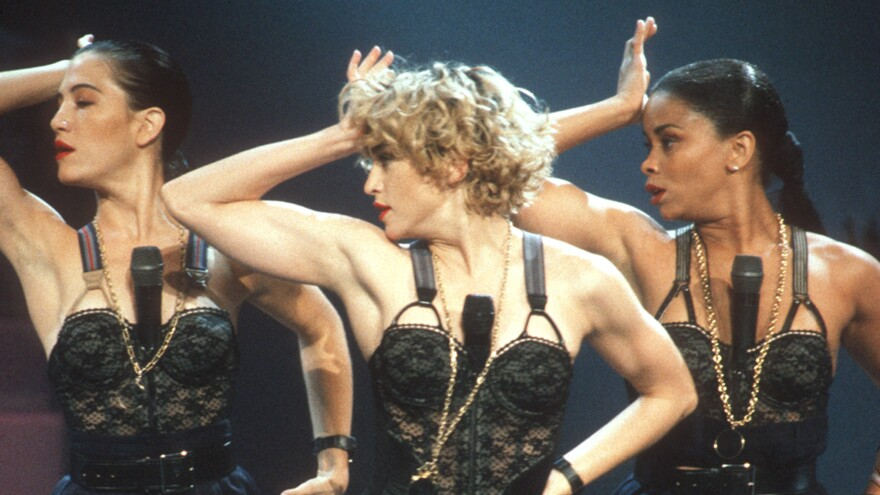 """One of Madonna's """"stage-worn"""" bras is featured in an auction of her personal items, which the pop singer has failed to stop."""