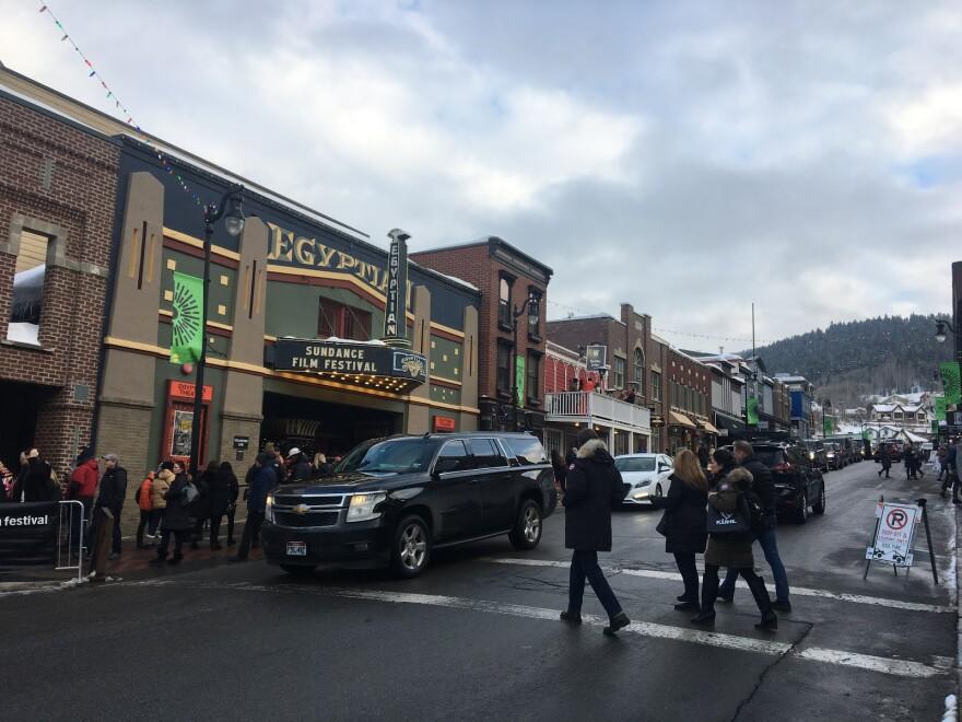 Photo of Main Street in Park City, UT during Sundance.