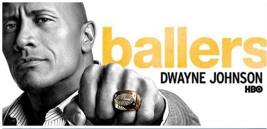 """Dwayne """"The Rock"""" Johnson portrays a retired football star turned financial manager HBO's """"Ballers."""" The series was initially set in Miami, but only two out of the four seasons were filmed in South Florida."""