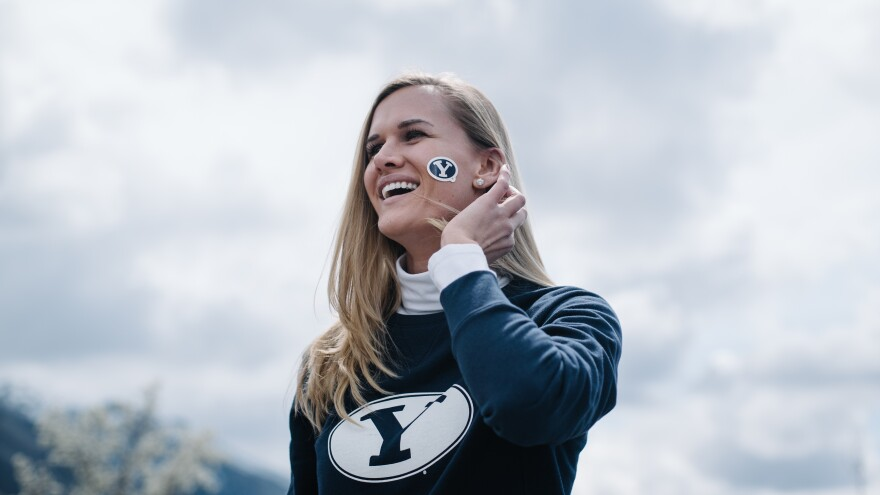 BYU honor code rally photo.