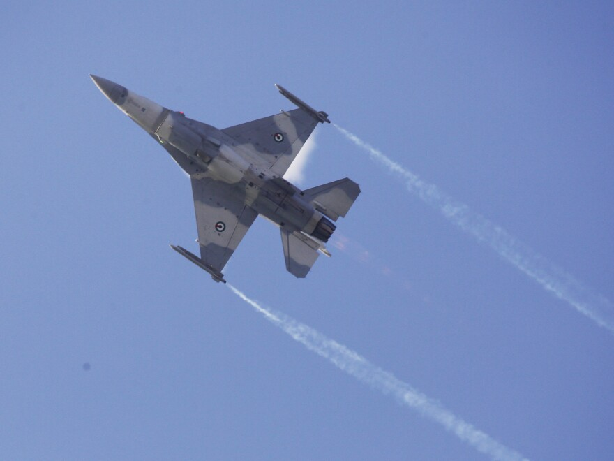 A UAE Air Force F-16.