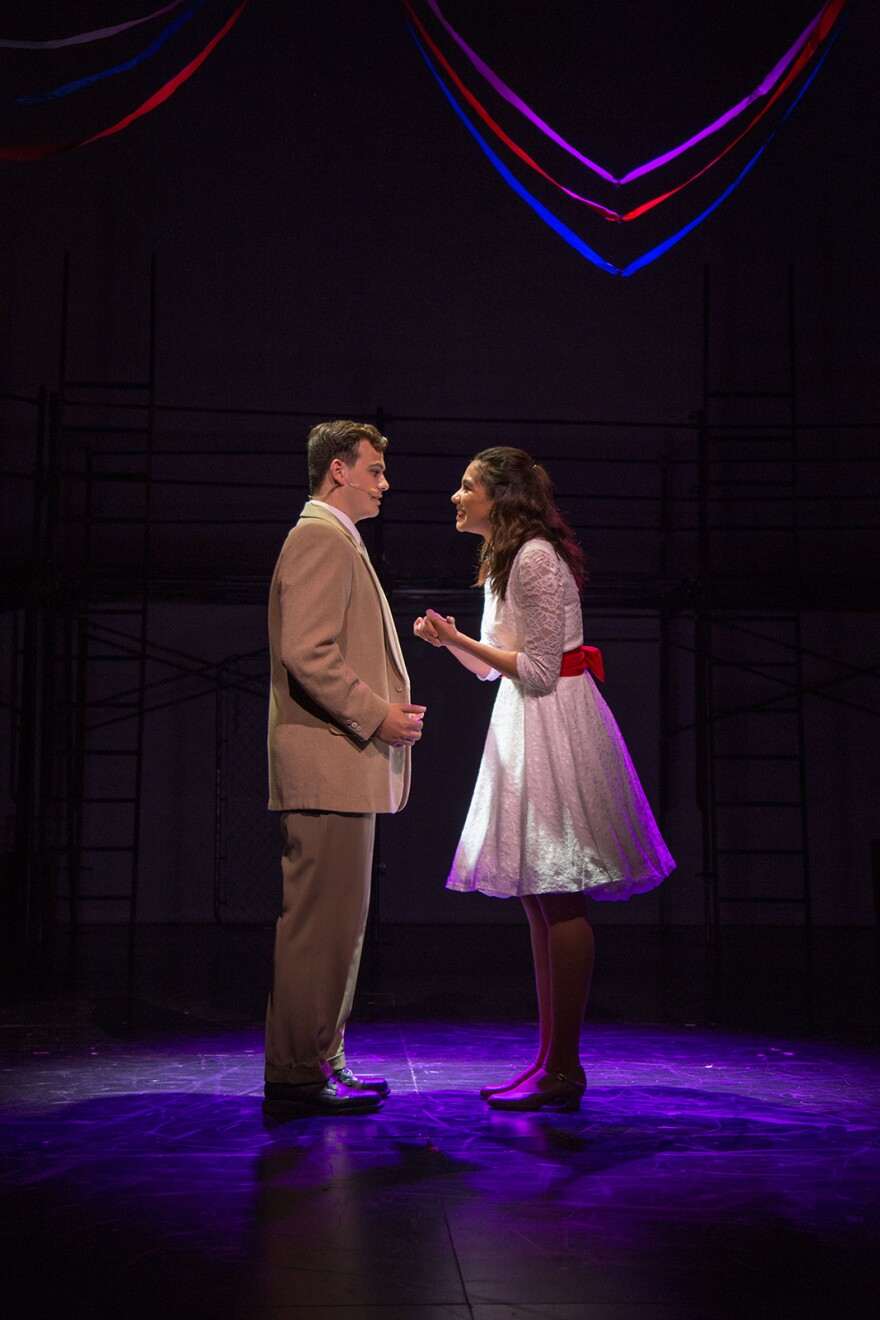 West Side Story is a tale of doomed lovers including Dylan Finch as Tony and Delaney Holliday as Maria.
