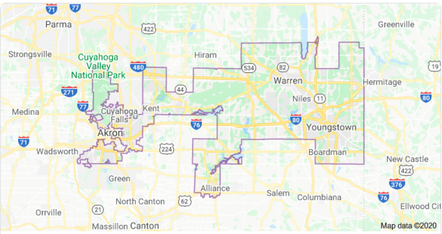 Ohio 13th Congressional District map