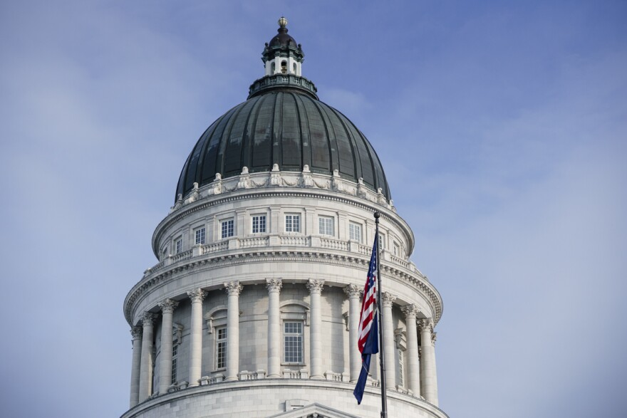 Photo of the rotunda of the Utah State Capitol building.