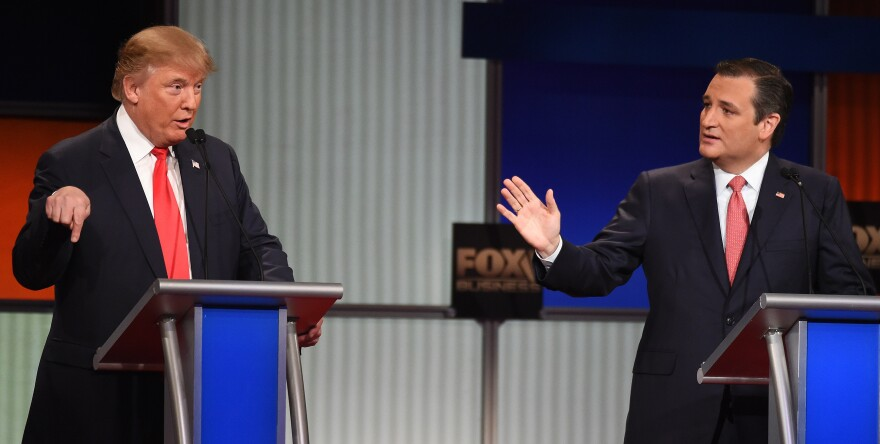 Republican presidential candidates Donald Trump and Sen. Ted Cruz.