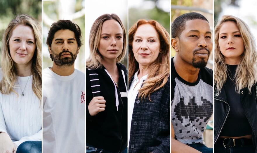 From left to right: Jacky St. James, David Cruz, Danielle Brinkley, Shira Tarrant, Isiah Maxwell, Lisey Sweet.