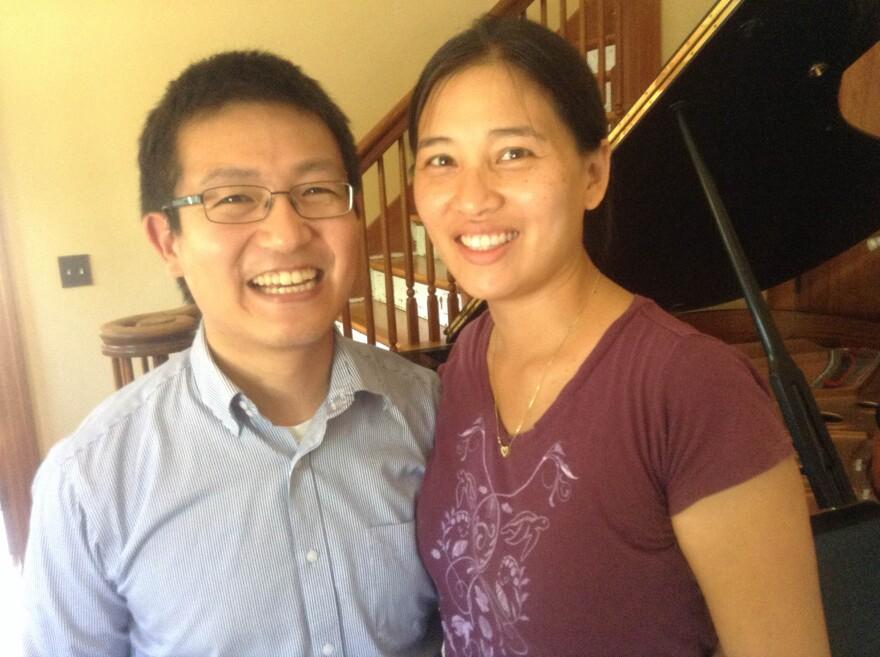 Keigo and Wenbi Hirakawa at home