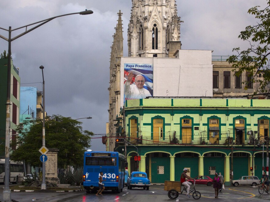 Havana prepares for Pope Francis's visit, which starts Sept. 19. He'll arrive in the United States from Cuba.