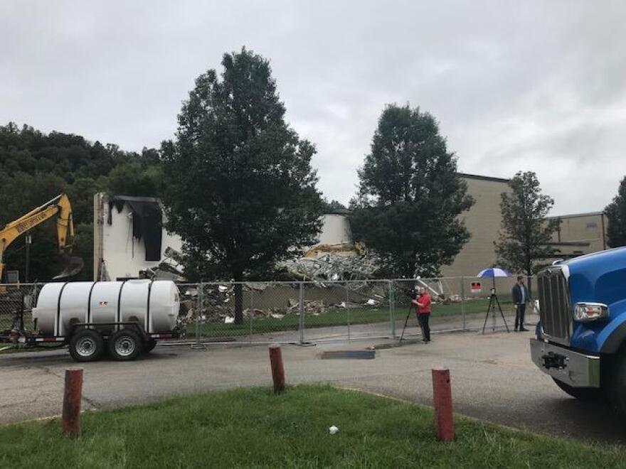 A photo taken during the demolition of Herbert Hoover High School in Sept. 2018.