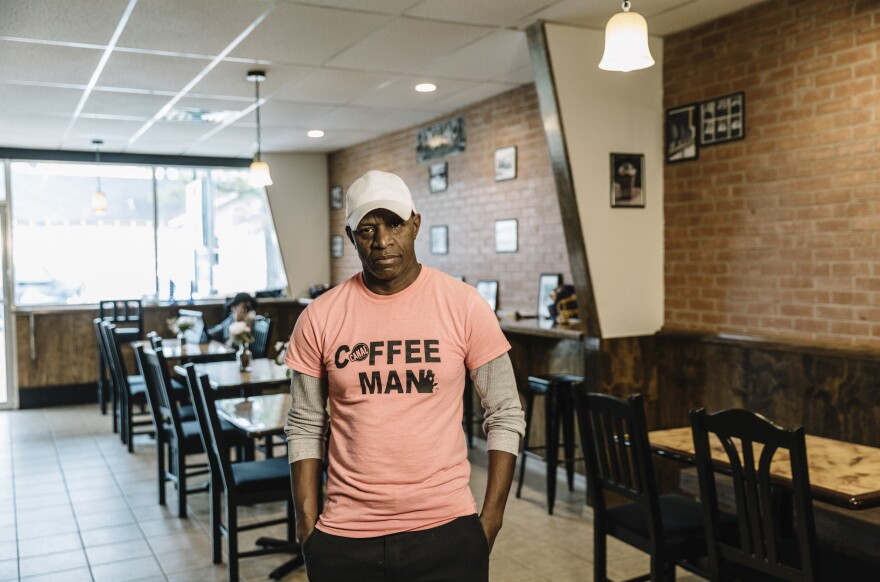 "Rodrick James owns and operates Canal Coffee Co. in downtown Oakdale. Federal workers fueled the small businesses in town. ""That's now got to cease when you not getting a paycheck,"" he says. ""So everybody starts suffering on the back end of this."""