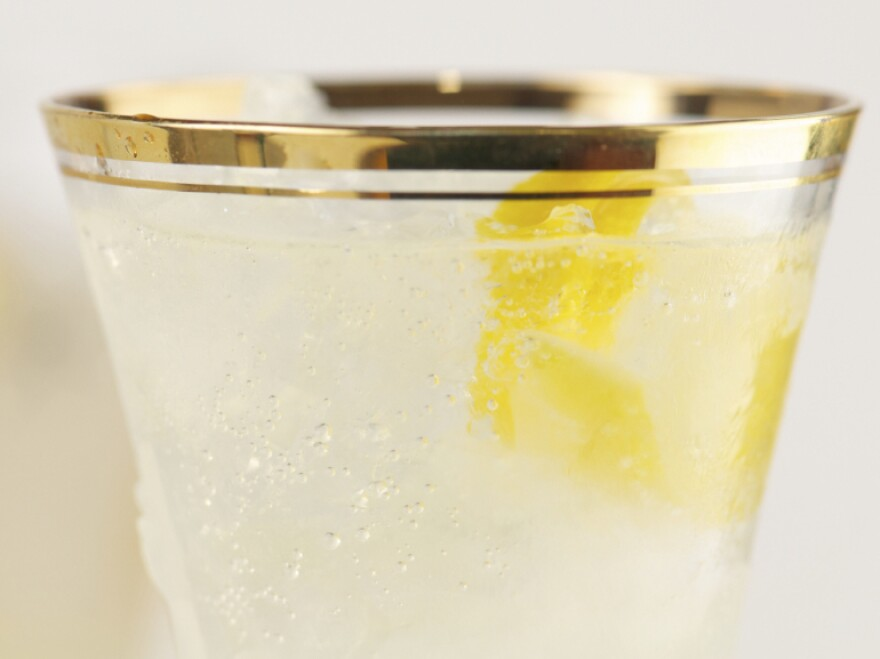 Greg Seider's version of a French 75 is a cocktail with gin, lemon juice and agave topped with prosecco or champagne.