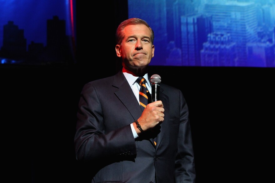 Brian Williams speaks onstage at the New York Comedy Festival in November of 2014.