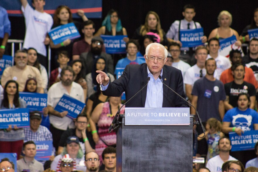 Bernie Sanders at the Florida State Fairgrounds Thursday
