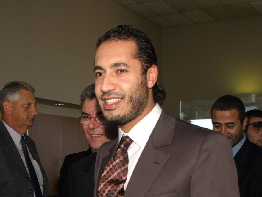 Saadi Gadhafi, the son of the Libyan leader Moammar Gadhafi, arrives in Sydney, Australia, in 2005. Officials in Niger say Saadi was intercepted by local troops Sunday as he entered the country from Libya.