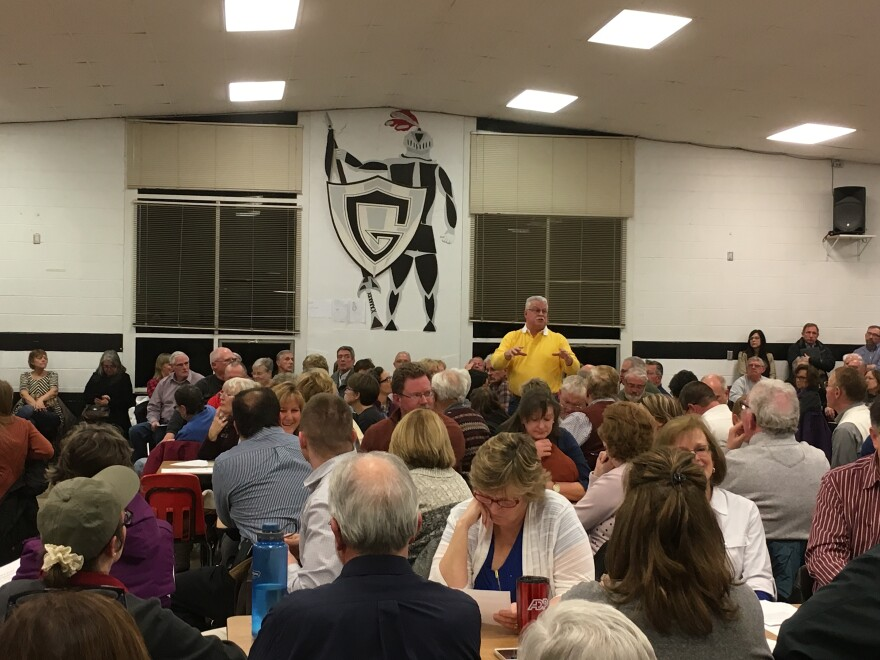 More than 200 Springfield residents packed into a high school cafeteria for a public hearing Thursday night. Many came to comment on an Ohio Environmental Protection Agency permit application that would allow mining company Enon Sand and Gravel to dump tr
