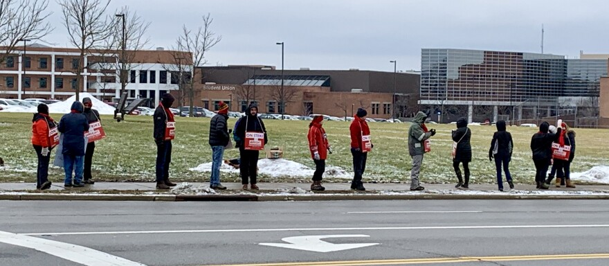 Members of Wright State's faculty union have been picketing since Tuesday.