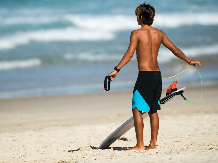 Boardshorts made by Quiksilver are made with Repreve.