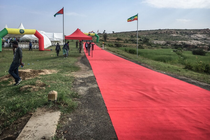 A red carpet was placed to welcome Eritreans to Ethiopia as two land border crossings between the countries were reopened in September, in Zalambessa, Ethiopia.