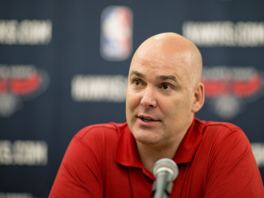 Atlanta Hawks general manager Danny Ferry has taken indefinite leave from the team for making racially charged comments about Luol Deng when the team pursued the free agent this year.
