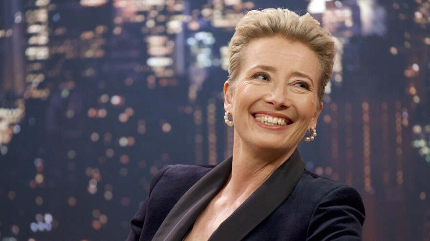 Emma Thompson plays Katherine, who is usually not this happy in <em>Late Night</em>.