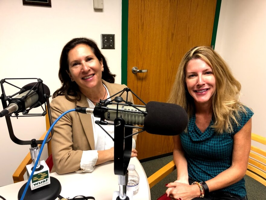 Food writer Laura Reiley, right, with Robin Sussingham.