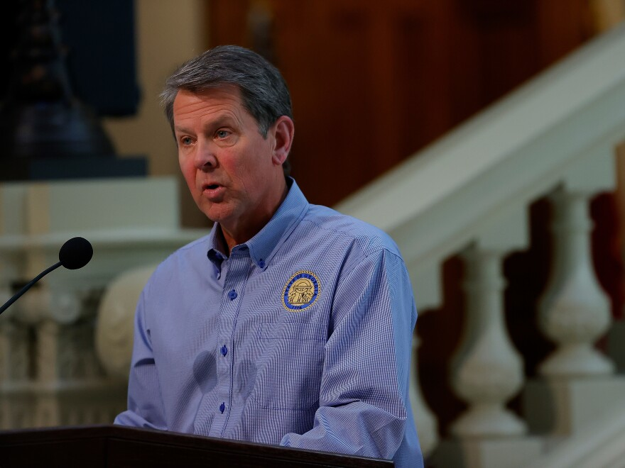 """Georgia Gov. Brian Kemp slammed Atlanta officials who """"have failed to quell ongoing violence"""" over an especially turbulent few months."""