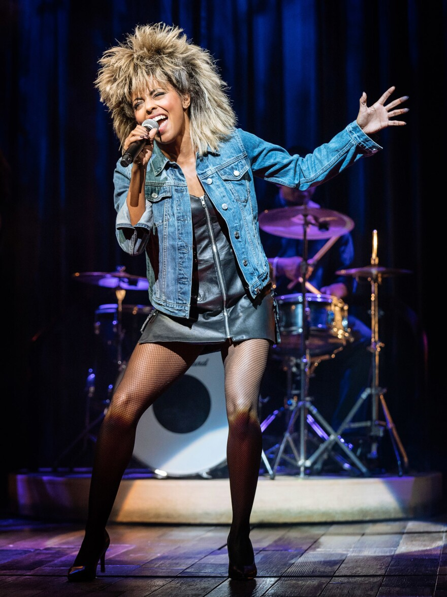 Adrienne Warren plays the adult Tina Turner in the new biographical musical.