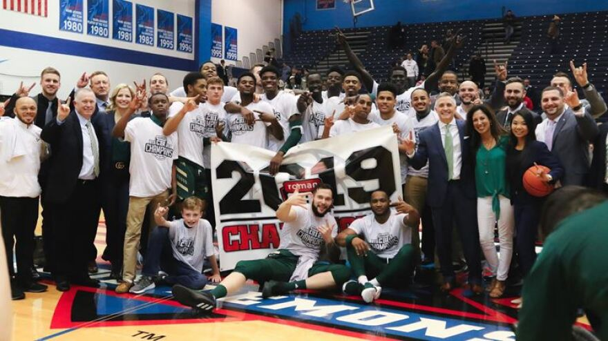 The USF men's basketball team won the College Basketball Invitational championship with a 77-65 win over DePaul Friday in Chicago.