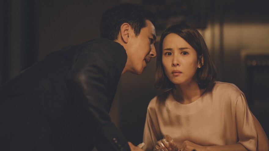 Lee Sun-kyun and Jo Yeo-jeong play the wealthy Parks in <em>Parasite</em>.