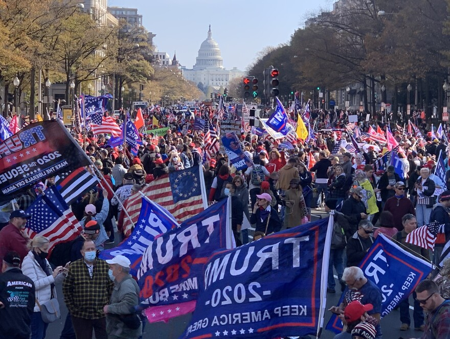 Trump supporters — at events with names like the Million MAGA March, the March for Trump and Stop the Steal DC — hit the streets down the road from the U.S. Capitol.
