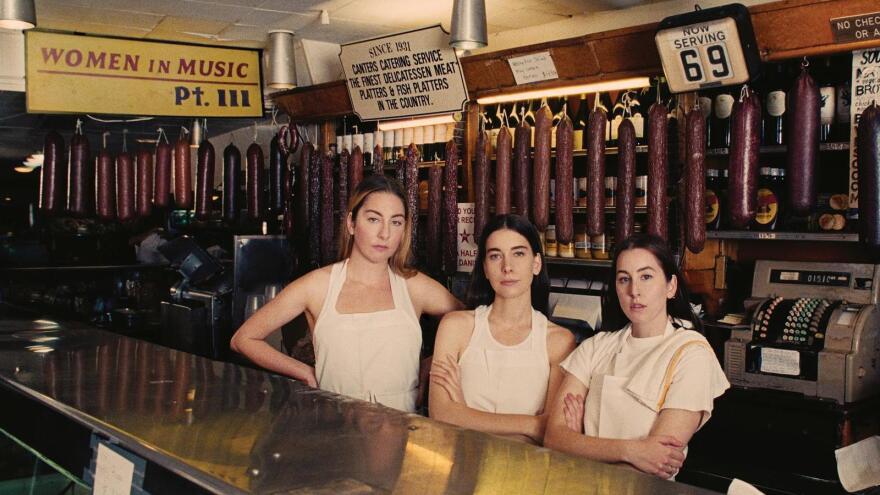 HAIM on the cover of its new album, <em>Women in Music Pt. III. </em>
