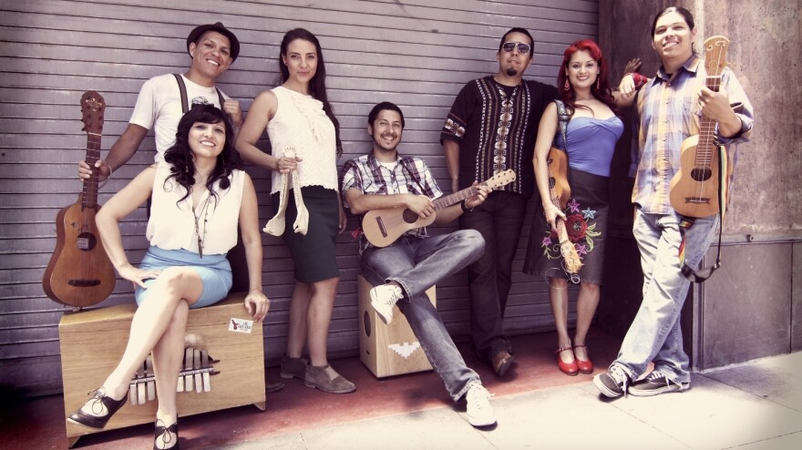 "Las Cafeteras' ""La Bamba Rebelde"" is featured in this<em> Latin Roots</em> segment."