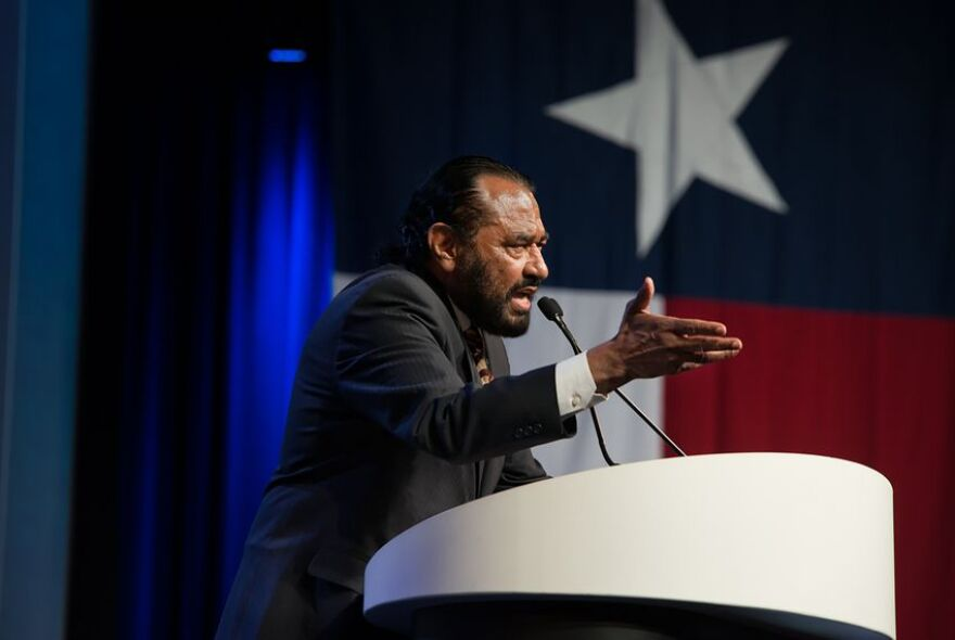 U.S. Rep. Al Green, D-Houston, speaking at the Texas Democratic Convention on June 23, 2018.