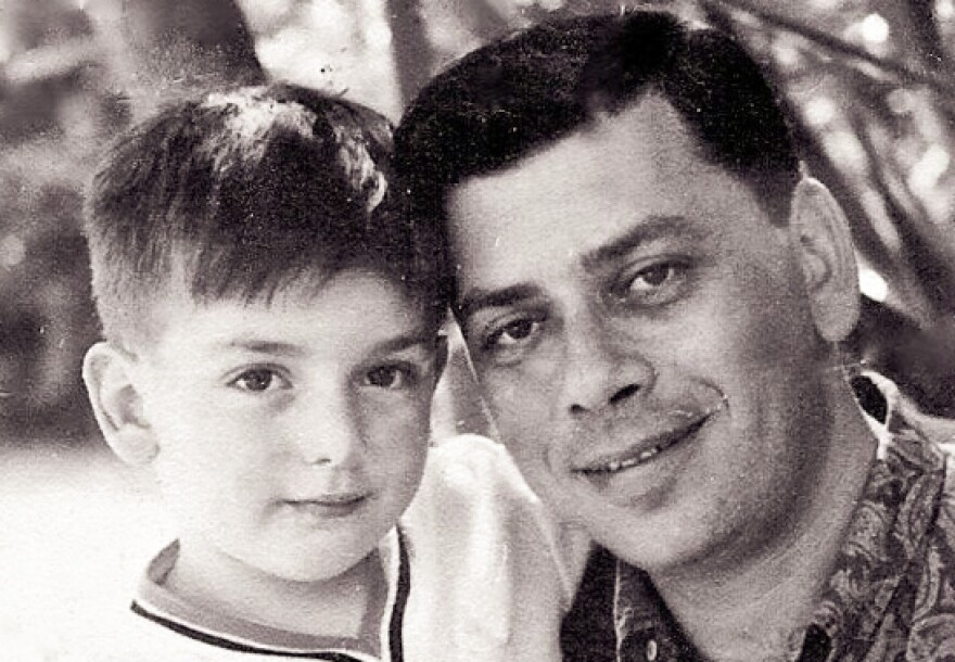 A 5-year-old Jeffrey Sherman is pictured with his father, songwriter Robert Sherman, in the early 1960s.